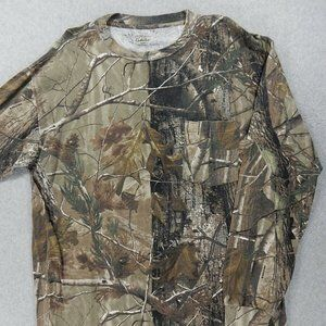 Cabelas Camouflage L/S Pocket Crew Hunting Shirt